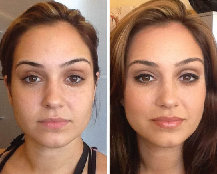 Make-up Before & After